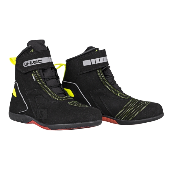 W-Tec Motorcycle Boots W-Tec Sixtreet - Black-Green 43