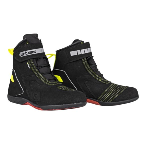 W-Tec Motorcycle Boots W-Tec Sixtreet - Black-Green 45