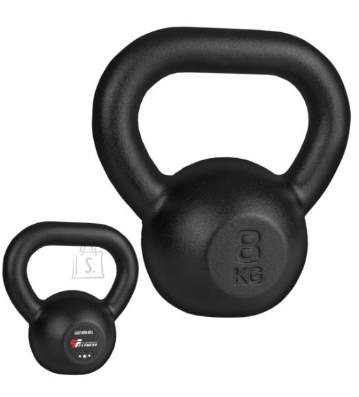 Cast Iron Kettlebell Platinum Fitness Beltor Black, 8 kg