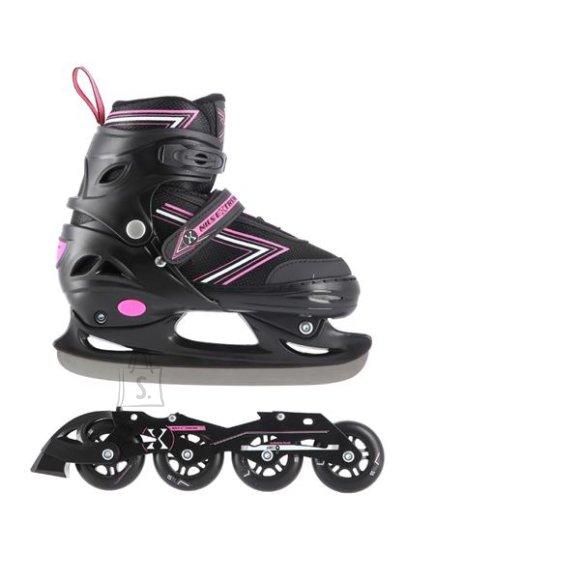 Nils Extreme In-Line Skates/Hockey Ice Skates Nils Extreme NH11912 Black-Pink - PU70 mm/82A (S 31-34)