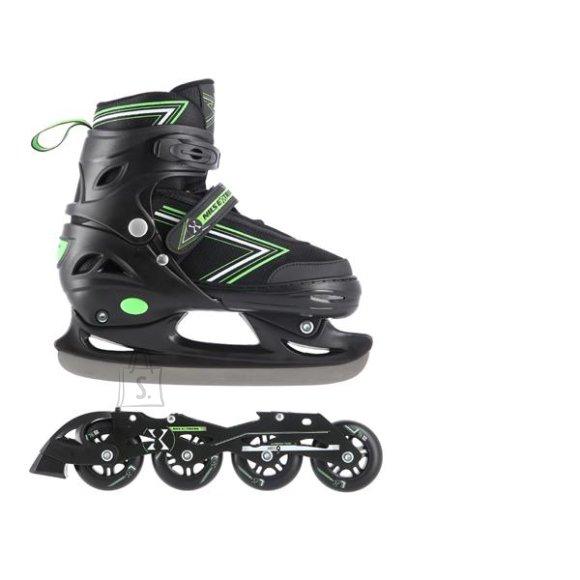 Nils Extreme In-Line Skates/Hockey Ice Skates Nils Extreme NH11912 Black-Green - PU70 mm/82A (S 31-34)