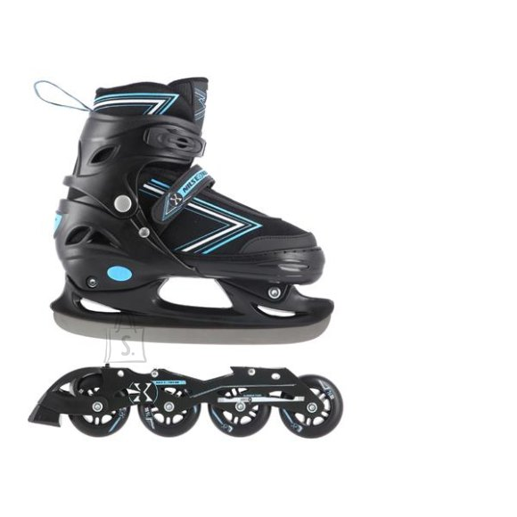 Nils Extreme In-Line Skates/Hockey Ice Skates Nils Extreme NH11912 Black-Blue - PU70 mm/82A (S 31-34)