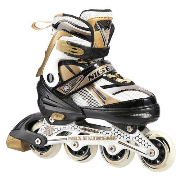 Nils Extreme In-Line Skates Nils Extreme NA1123 Gold - PU70 mm/82A (S 31-34)