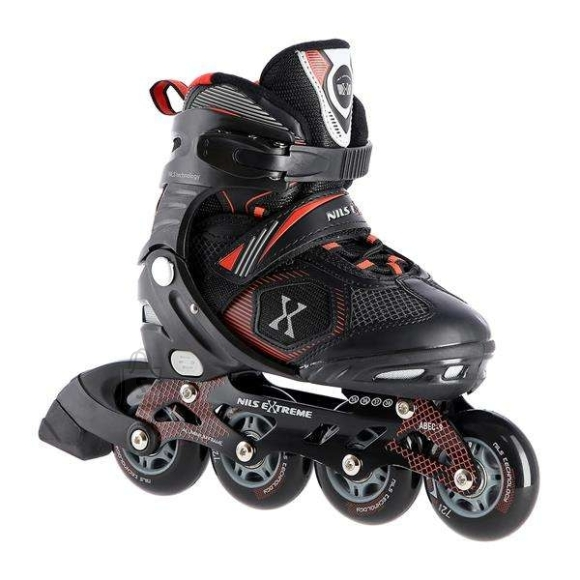 Nils Extreme Roller Skates Nils Extreme NA9080 Black-Red - PU70 mm/82A (S 31-34)
