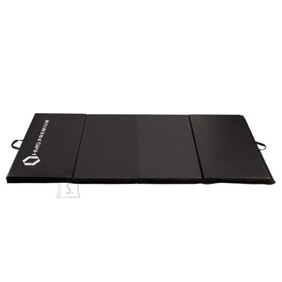 Gymnastic Foldable Mattress HMS Premium MGS01 2400x1200mm, Black