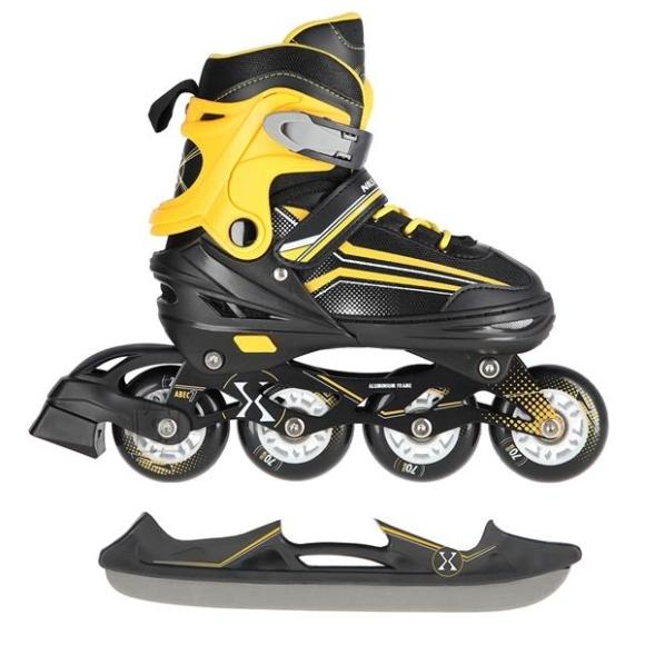 Nils Extreme In-Line Skates/Hockey Ice Skates Nils Extreme NH18190 2in1 Black-Orange - S(29-33)