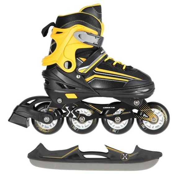 Nils Extreme In-Line Skates/Hockey Ice Skates Nils Extreme NH18190 2in1 Black-Orange - M (34-38)