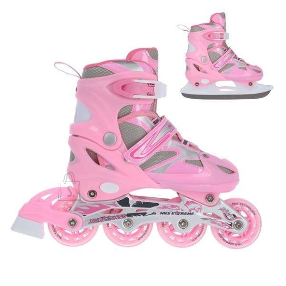 Nils Extreme In-Line Skates/Hockey Ice Skates Nils Extreme NH18366 Pink - PU70 mm/82A (S 31-34)
