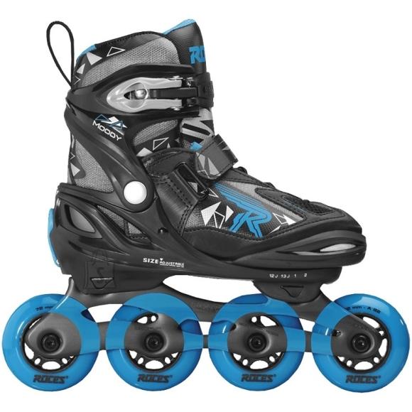 Roller Skates Roces Moody Boy Tif 400855 01, Black-Blue - 30-35