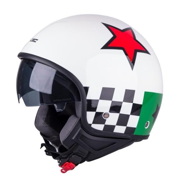 W-Tec Scooter Helmet W-TEC FS-710G Sixty White - White with Graphics XS (53-54)