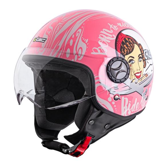 W-Tec Scooter Helmet W-TEC FS-701PF Pink Life - pink-white L(59-60)
