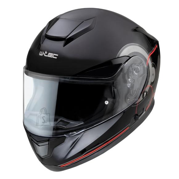 W-Tec Motorcycle Helmet W-TEC Yorkroad Fusion - Black Grey Red Glossy XXL (63-64)