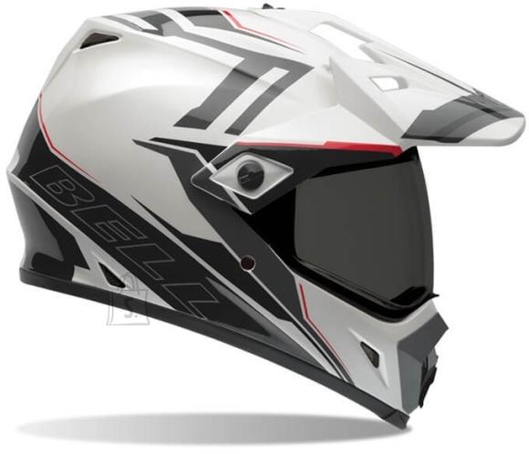 Motocross Helmet BELL MX-9 Adventure - Barricade White XS (53-54)