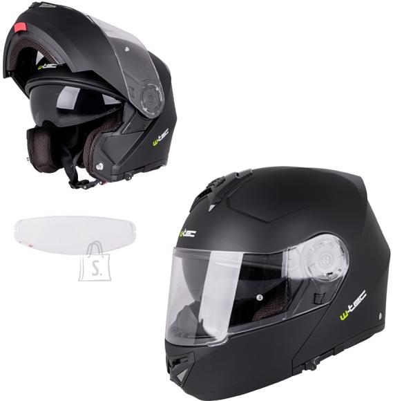W-Tec Flip-Up Motorcycle Helmet W-TEC Vexamo V270 PP - Matte Black L(59-60)