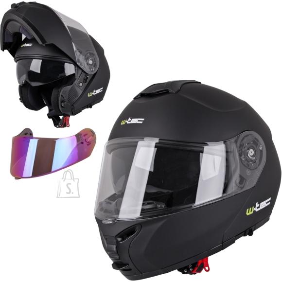 W-Tec Flip-Up Motorcycle Helmet W-TEC FS-907 P/J - Black Matt XS (53-54)