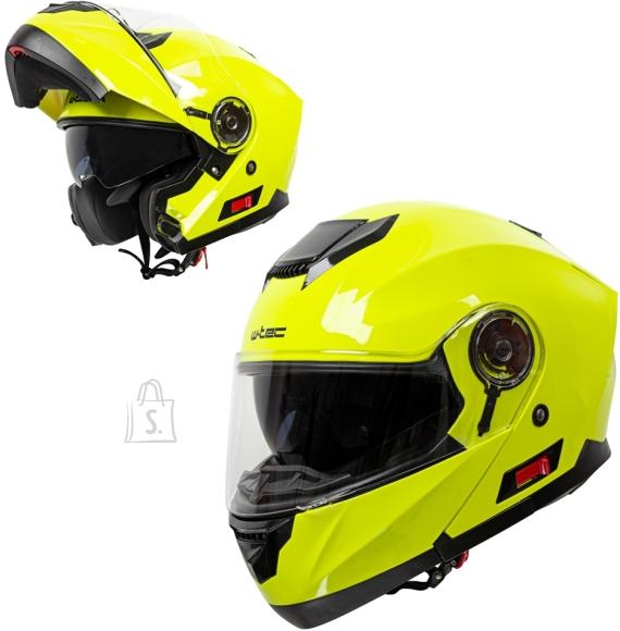 W-Tec Flip-Up Motorcycle Helmet W-TEC Lanxamo - Fluo Yellow L(59-60)