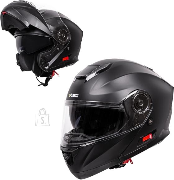 W-Tec Flip-Up Motorcycle Helmet W-TEC Lanxamo - Matt Black XS (53-54)