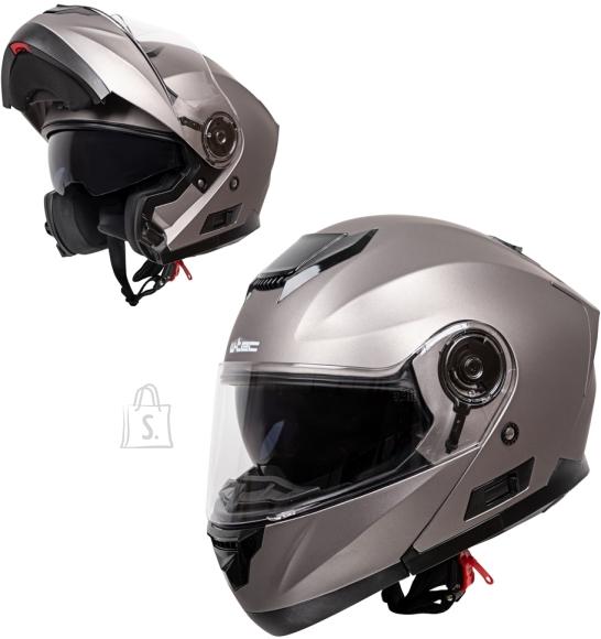 W-Tec Flip-Up Motorcycle Helmet W-TEC Lanxamo - Titan Grey L(59-60)