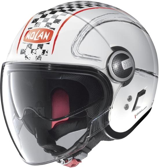 Nolan Motorcycle Helmet Nolan N21 Visor Getaway - Metal White-Red XS (53-54)