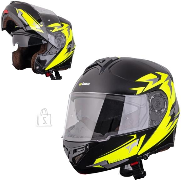 W-Tec Flip-Up Motorcycle Helmet W-TEC Vexamo PR Black Graphic - S(55-56)