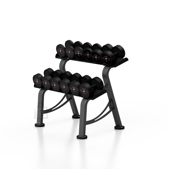Marbo Sport Rubberized Dumbbells set with rack 5-17,5 kg Marbo S MP-HSGk2-S-k1