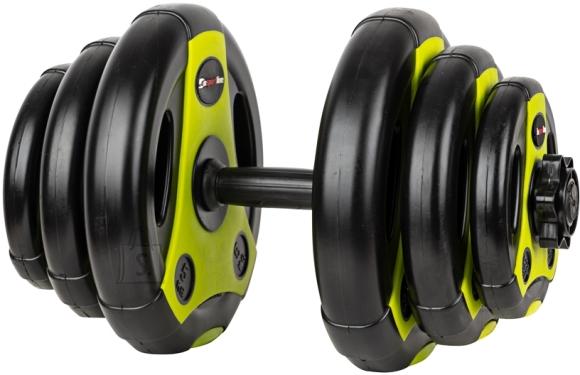 inSPORTline Adjustable Single-Handed Dumbbell inSPORTline 3–18 kg Black-Green