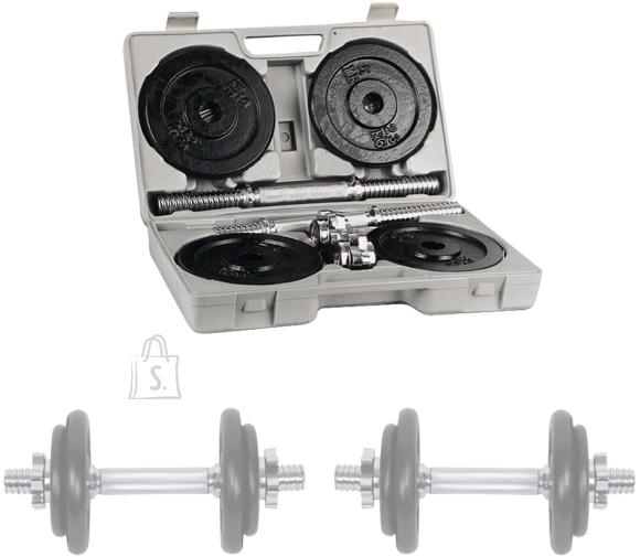 inSPORTline Dumbbell Set with a Case 2 x 10 kg