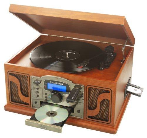 Ricatech RMC250 6in1 muusikakeskus Paprika vinüülplaadimängijaga