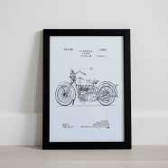 Dekoratiivne seinapilt Harley Davidson patent