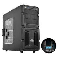 Cooler Master Cooler Master K(night) 350, Midl tower, black, with window, with USB 3.0 , black inside,  w/o PSU, mATX / ATX
