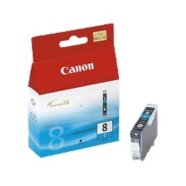 Canon Canon CLI-8C Cyan Ink Tank (for Pixma iP3300/4200/4300/5200/5300/6600/6700, iX4000/5000, MP500/510/530/600/800/810/830/950/960, Pro9000 ), 420 p. @ A4 5%