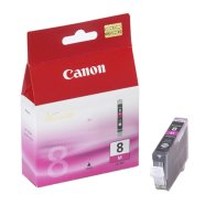 Canon Canon CLI-8M Magenta Ink Tank (for Pixma iP3300/4200/4300/5200/5300/6600/6700, iX4000/5000, MP500/510/530/600/800/810/830/950/960, Pro9000 ), 420 p. @ A4 5%