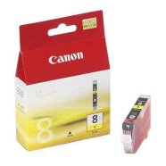 Canon Canon CLI-8Y Yellow Ink Tank (for Pixma iP3300/4200/4300/5200/5300/6600/6700, iX4000/5000, MP500/510/530/600/800/810/830/950/960, Pro9000 ), 420 p. @ A4 5%