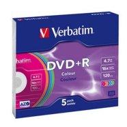 Verbatim DVD+R toorikute komplekt 4.7GB 16X 5 tk