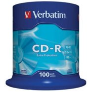 Verbatim CD-R toorikute torn 80/700MB 52X 100 tk