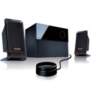 MicroLab Microlab M-200 2.1 Speakers/ 40W RMS (12Wx2+16W)/ wired Remote Control with MP3 input & Headphone output