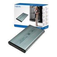 Logilink Logilink 2.5 SATA  drive case to USB 2.0, silver
