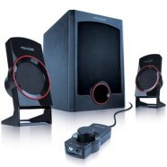 MicroLab Microlab M-111 2.1 Speakers/ 13W RMS (3Wx2+7W)/ wired Remote Control with MP3 input & Headphone output