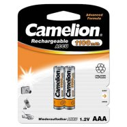 Camelion Rechargeable Batteries Ni-MH AAA (R03), 1100 mAh, 2-pack (NH-AAA1100BP2)