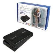 "Logilink 3.5"" SATA  drive case, USB 3.0  black, aluminium"