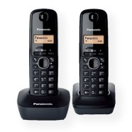 Panasonic Panasonic KX-TG1612FXH  Cordless phone, Black /  LCD / Memory 50 numbers / Memory for 50 incoming numbers /  (10levels) Auto-repeat, ringtone 12, selectable 16 tone / Wall-mount option