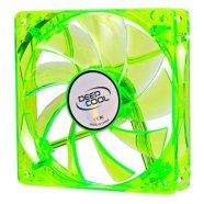 80 mm case ventilation fan, transparent Green frame  with Blue LED, 3Pin/2pin;