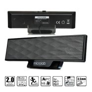 MicroLab Microlab B-51 Soundbar Design Speakers/ 4W RMS (2W+2W)/ USB Powered/ with Clamp Mount