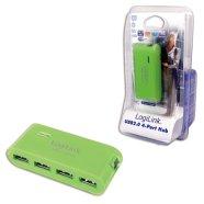 Logilink USB jaotur 4-le adapteriga roheline