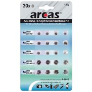 Arcas Alkaline Button celles set 20pcs blister