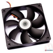 Cooler Master 120mm case ventilation fan, rifle bearing,  3-pin connector, bare bulk,