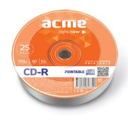 ACME ACME CD-R 80/700MB 52X 25pack shrink printable