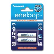 Panasonic Eneloop Ready To Use Rechargeable Battery 2x AAA BK-4MCCE-2BE (800mAh)/ Recharge 2100 Times