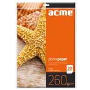 ACME A3 läikiv fotopaber tindiprinterile 20 lehte