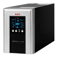 AEG UPS Protect C. 1000, 1000VA/ 800W/ Online, Double-Conversion/ LCD Display/ 4x IEC-320/ Battery protected/ Fax, network  line protection / USB / RS232 /  Slot for Extension Cards / Automatic Voltage Regulation /  CompuWatch Software for Windows, Linux, Mac